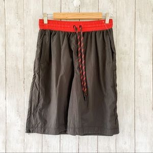 Free People Movement Black Red Basketball Shorts